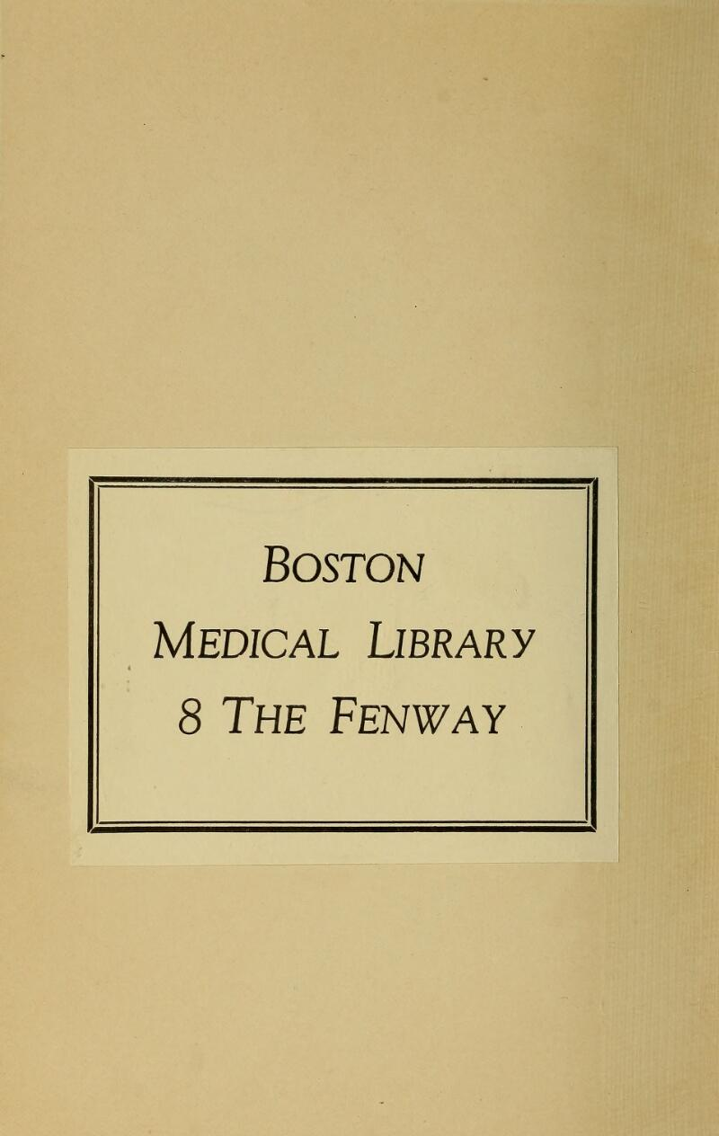 Boston Medical Library 8 The Fenway