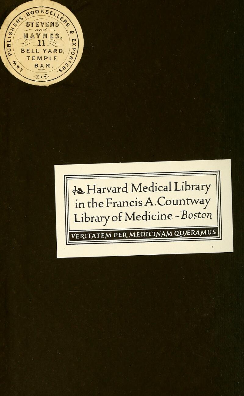 <J^ Harvard Medical Library in the Francis A. Countway Library of Medicine-Boston