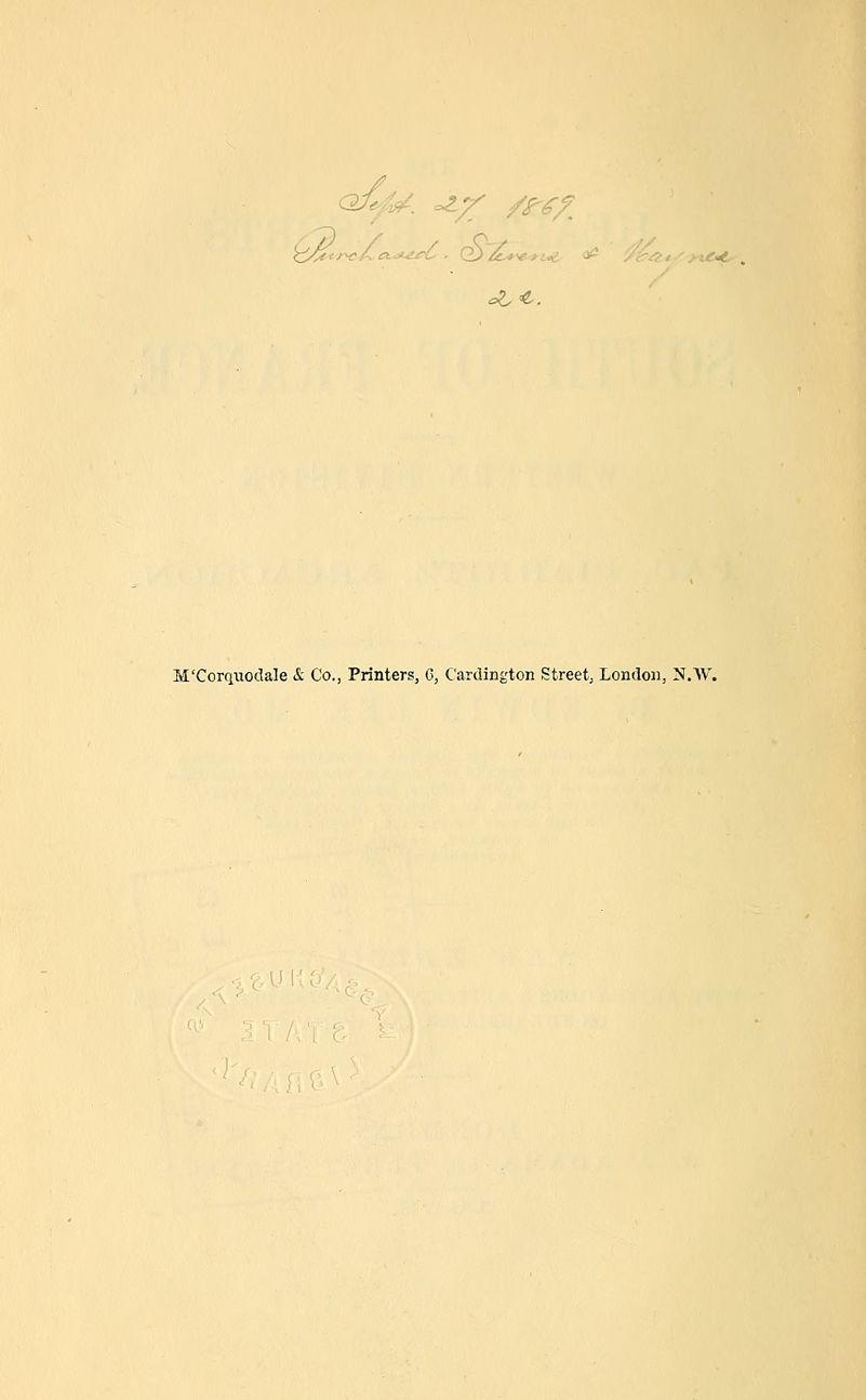 <=2.e. M'Corciiiodale &~ Co., Printers, 6, Cardington Street, London, N.AV.