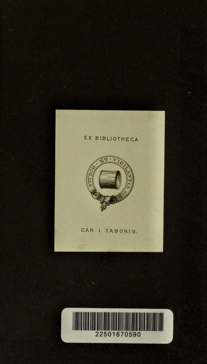 EX bibliotheca CAR. I. TAB ORI S.