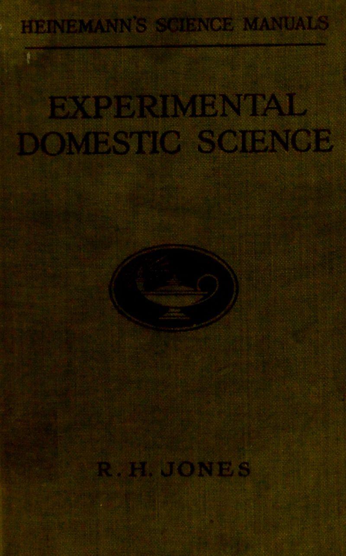 domestic science R. H, JONES