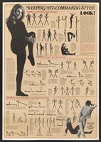 view Physical exercises for men and women. Colour lithograph, 1972.
