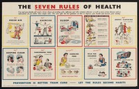 view The seven rules of health : you and your family will stand a better chance of avoiding colds, influenza and other common ailments, as you will more serious diseases such as tuberculosis, if you follow these simple rules ...  / prepared for the Ministry of Health and the Department of Health for Scotland by the Central Office of Information.