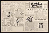 view Virile manhood : the official organ of the Laurance Institute of Health & Stamina Ltd. / Harold Laurance.