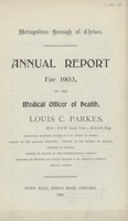 view Annual report for 1903 of the Medical Officer of Health.