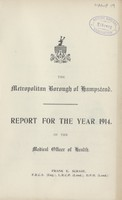 view Report for the year 1914 of the Medical Officer of Health.