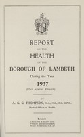 view [Report of the Medical Officer of Health for Lambeth Borough].