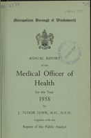 view [Report of the Medical Officer of Health for Wandsworth, Metropolitan Borough].