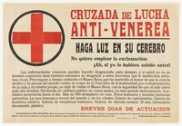 view Crusade against sexually transmitted disease by visiting the Museo Roca in Spain. Colour lithograph by Museo Roca, 193- (?).