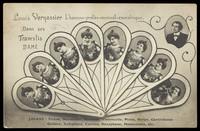 view Louis Vernassier, in drag, in nine inset portraits. Process print, 190-.