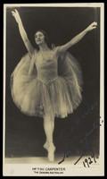 "view Tiki Carpenter in drag as ""The dancing Australian"". Photographic postcard, ca. 1927."