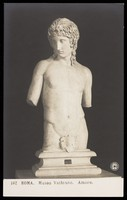 view Cupid (?). Photographic postcard, 191-.