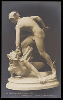 view Perseus slaying Medusa. Photographic postcard after L.-H. Marqueste, 191-.