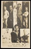 """view """"Dare Derek"""", a light comedy artist. Process print, 1922."""