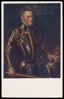 view A portrait of Prince William of Orange by Antonis Mor. Colour process print, 19--.