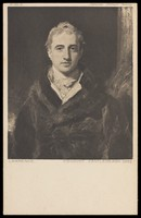 view A portrait of Viscount Castlereagh. Process print, 19--, after Sir Thomas Lawrence.