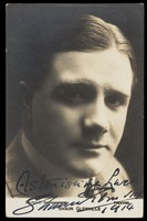 view Shaun Glenville. Photographic postcard, 1914.