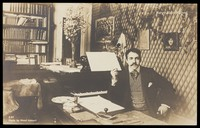 view Reynaldo Hahn. Photographic postcard by H. Manuel, 190-.