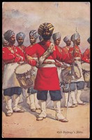 view Soldiers in the 45th Rattray's Sikhs infantry regiment. Colour process print after A.C. Lovett, 191-.