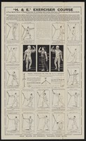 """view """"H. & E."""" exercise course : a three months' course of physical exercises for developing those muscles which have a vital bearing upon the general health / Health Promotion, Ltd., 19-21 Ludgate Hill, London, E.C.4."""