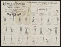 view Gymnastique hygiénique & médicale pour les deux sexes : exercises pratiques et raisonnés des muscles / Corderie des Théâtres A. Brécheux, F. Gailliardot, succr., 265, 267 Rue St. Denis, Paris.