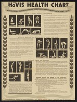 view Hovis health chart : including suitable exercises for physical development, slimming & improvement at sports & games / Hovis Ltd.