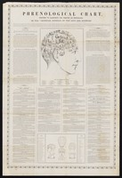 """view Phrenological chart : designed to illustrate the treatise on phrenology, in the """"Imperial journal of the arts and sciences""""."""