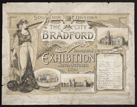 view Souvenir diploma : the city of Bradford Cartwright Memorial Hall inaugural exhibition May to October 1904 : music, industries, art.