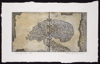 view Data receding from the mind; representing loss of memory. Coloured etching by Anthony Whishaw, 1997.