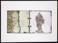 view Data and a mind separated on two facing pages of a Filofax; representing loss of memory. Colour inkjet print by Anthony Whishaw, 2004.