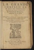 view La grande chirurgie ... composée l'an de grace 1363