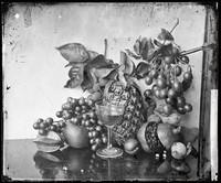 view Still life of fruit, Hong Kong. Photograph by John Thomson, 1868/1871.