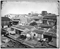 view Amoy (Xiamen), Fukien province, China: a Chinese residential quarter. Photograph by John Thomson, 1870/1871.
