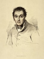 view A man diagnosed as suffering from acute dementia. Lithograph, 1892, after a drawing by Alexander Johnston, 1836/1841, for Sir Alexander Morison.