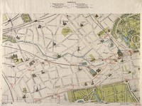 view A map of London: showing sites of medical interest in Paddington and north Kensington. Coloured lithograph, 1913.