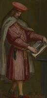 view Saint Cosmas and Saint Damian. Oil paintings.