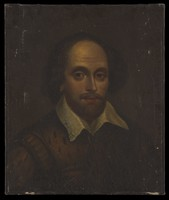 view William Shakespeare. Oil painting, 18--.