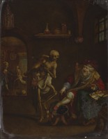 view Death and the miser. Oil painting by Frans Francken II.