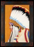 view A Blackfeet Indian. Pastel by W. Langdon Kihn, 1926.