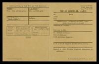 view Field medical card / [War Office].