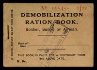 view Demobilization ration book : soldier, sailor, or airman.