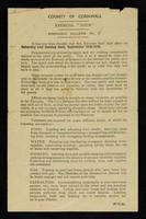 "view County of Cornwall : exercise ""Thun"" : emergency bulletin. No. 2 / E.H.W. Bolitho, A. de L. Cazenove."