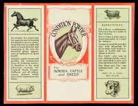 view Condition powder for horses, cattle and sheep.