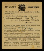 view Retailer's sugar ticket / Food Controller.