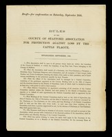 view Rules of the County of Stafford Association for Protection Against Loss by the Cattle Plague : established September 1865.
