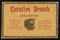 view Curative drench for cattle : compounded on the lines of the famous Cheshire Red Bottle...