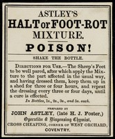 view Astley's halt or foot-rot mixture : poison!...