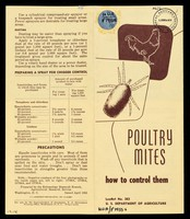 view Poultry mites : how to control them / [prepared by the Entomology Research Branch, Agricultural Research Service].