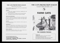 view Farm cats : the farmers friends / The Cats Protection League.