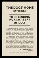 view The Dogs' Home Battersea : to intending purchasers of dogs... / E.L. Healey Tutt.